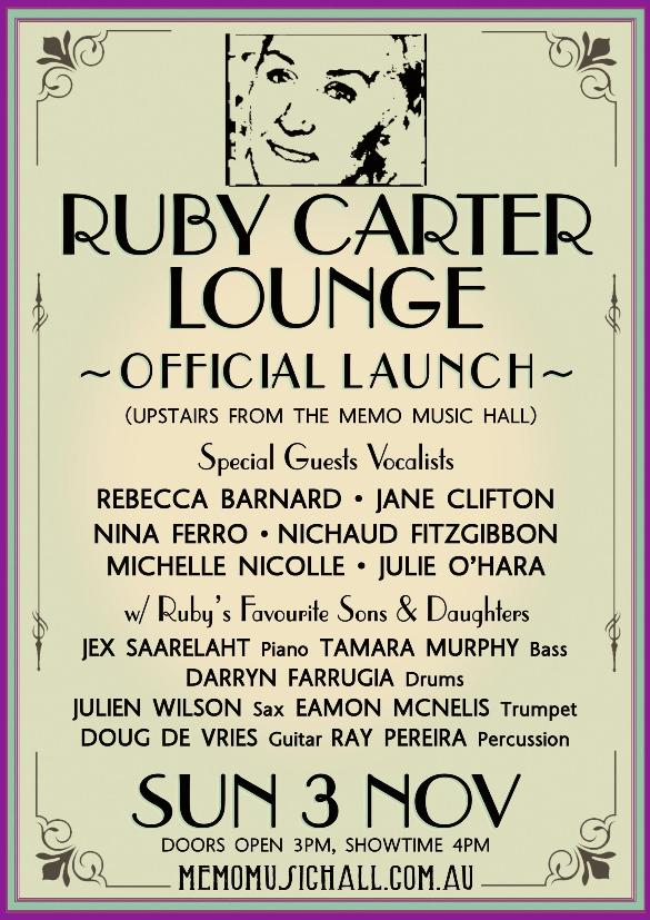 Ruby Carter Lounge Official Launch
