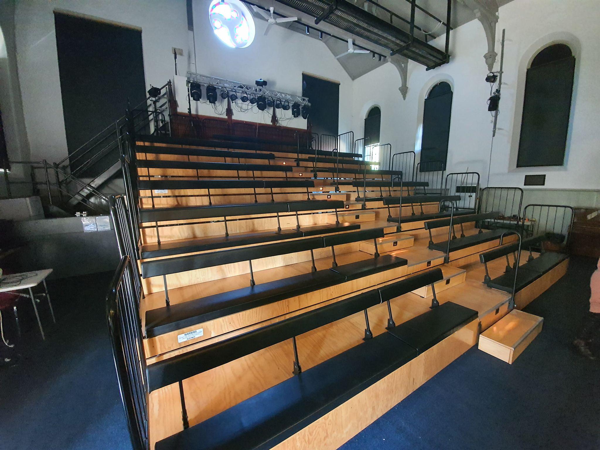 Bluestone Theatre tiered seating