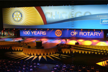 Rotary Club convention celebrating 100 years