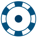 Blue casino chip icon