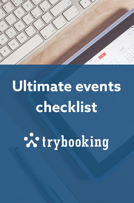 A banner for an events checklist download