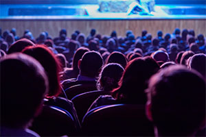An event auditorium full of audiences