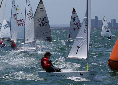 national sailing competition yachts in the water